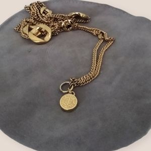 Marc by Marc Jacobs Gold Knot Medallion Necklace